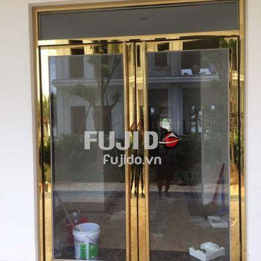 Cửa kính khung Inox vàng gương và những thông tin cần thiết