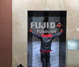 FUJIDO TIẾN HÀNH LẮP ĐẶT TẤM ỐP INOX THANG MÁY CHẤT LƯỢNG CAO CHO SÂN BAY NỘI BÀI